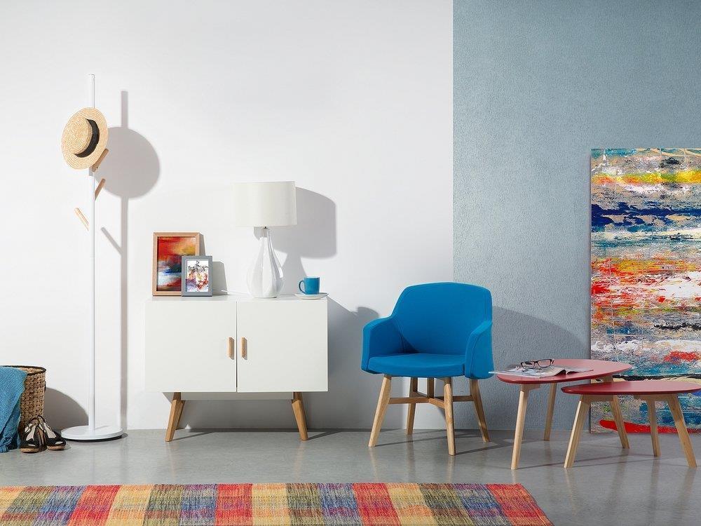 Credenza Moderna Rossa : Credenza moderna bianca a due ante sitka beliani casa e cucina