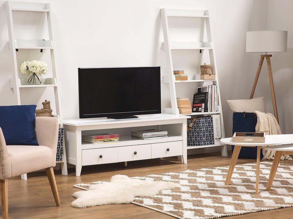 Mobile TV bianco con 3 cassetti Berkeley - Beliani - Casa e Cucina | IBS