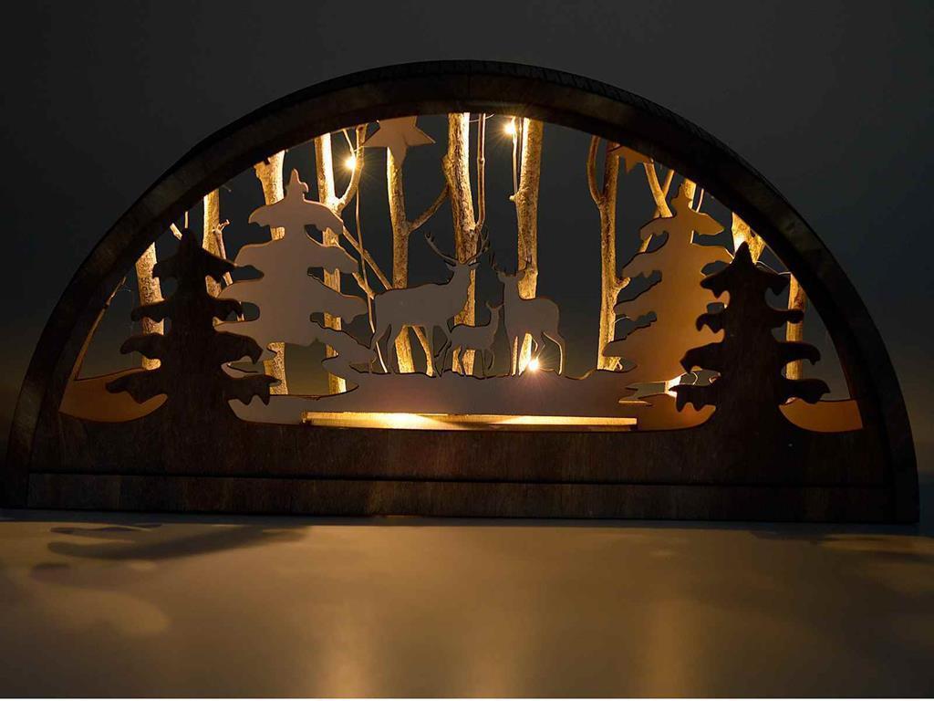 Decorazioni Luminose Natalizie : Decorazione luminosa da tavolo con paesaggio natalizio gruppo