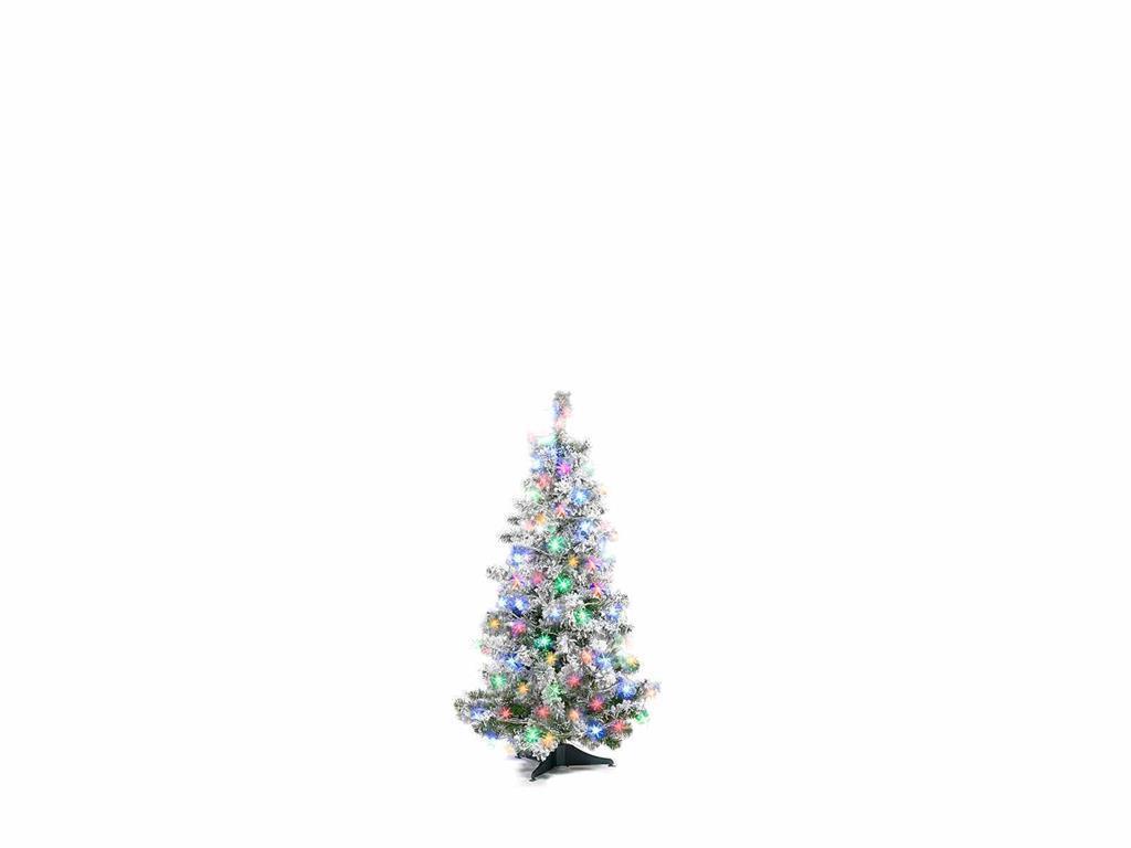 Albero Di Natale Bianco.Albero Di Natale Bianco Con 192 Luci Colorate 120 Centimetri
