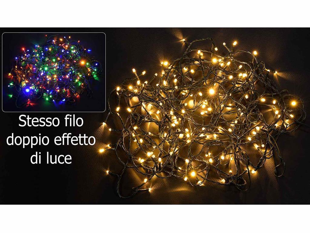 Stringa di luci 180 luci natalizie a led per interno ed esterno