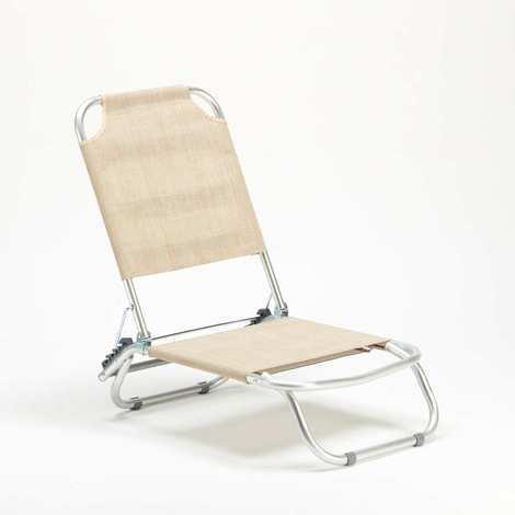 Sedia sdraio mare alluminio pieghevole spiaggina TROPICAL Beige