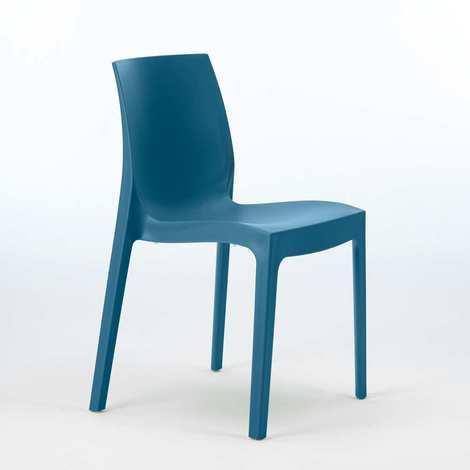 Sedie In Polipropilene Colorate.22 Sedie Rome Polipropilene Impilabili Bar Offerta Stock Blu