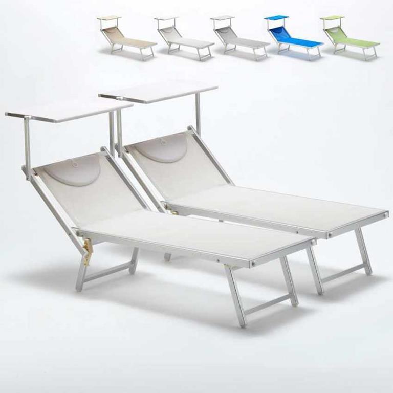 Lettini E Sdraio Mare.Lettini Mare Prendisole Professionali Sdraio Alluminio Spiaggia