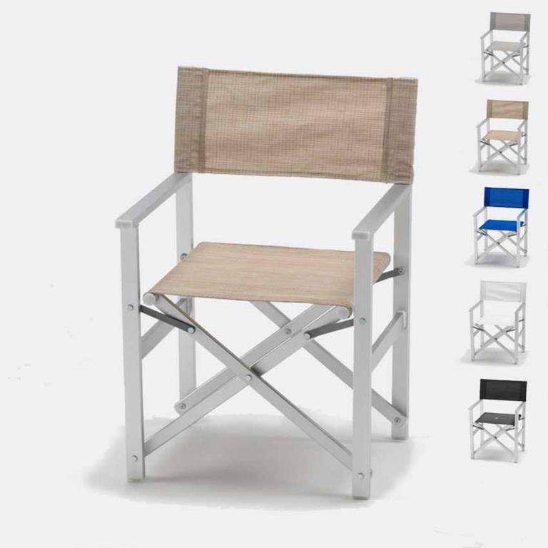 Sedia Regista Alluminio Offerte.Sedia Regista Alluminio Textilene Lusso Produceshop Produceshop