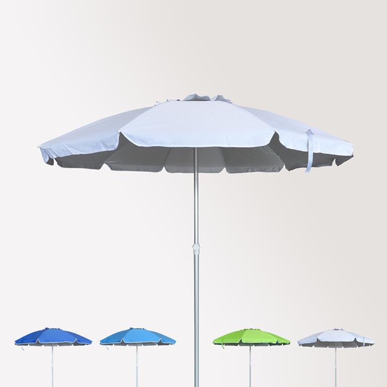 Disegni Di Spiaggia E Ombrelloni.Ombrellone Mare Spiaggia 240 Cm Alluminio Antivento Protezione Uv
