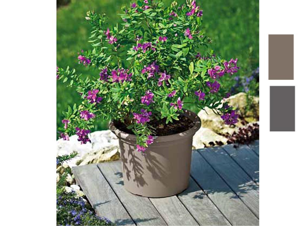 Vaso Esterno Grigio : Euro 3 plast vaso ´geo´ cm20 grigio giardino arredo da esterno