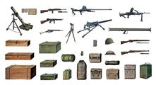 Accessori Militari - Military Accessory Set Plastic Kit 1:35 Model IT0407