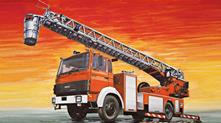 Fire Ladder Truck Iveco Magirus Plastic Kit 1:24 Model IT3784