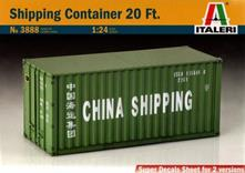 Shipping Container 20 ft. Plastic Kit 1:24 Model IT3888