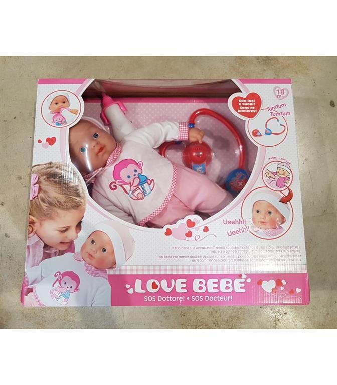 Love Bebè bambola sos baby dottore con accessori Giochi Preziosi