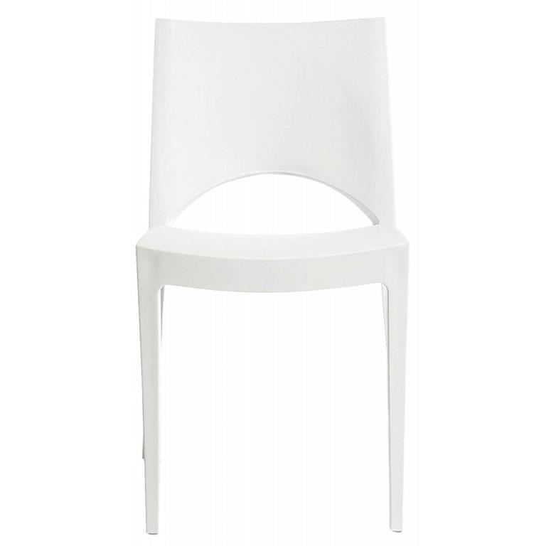 Sedia bianca in polipropilene di design adatta sia all ...