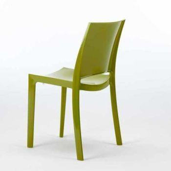 Sedie Per Cucina E Bar Lucida SUNSHINE Design Moderno In Polipropilene -  Verde 2