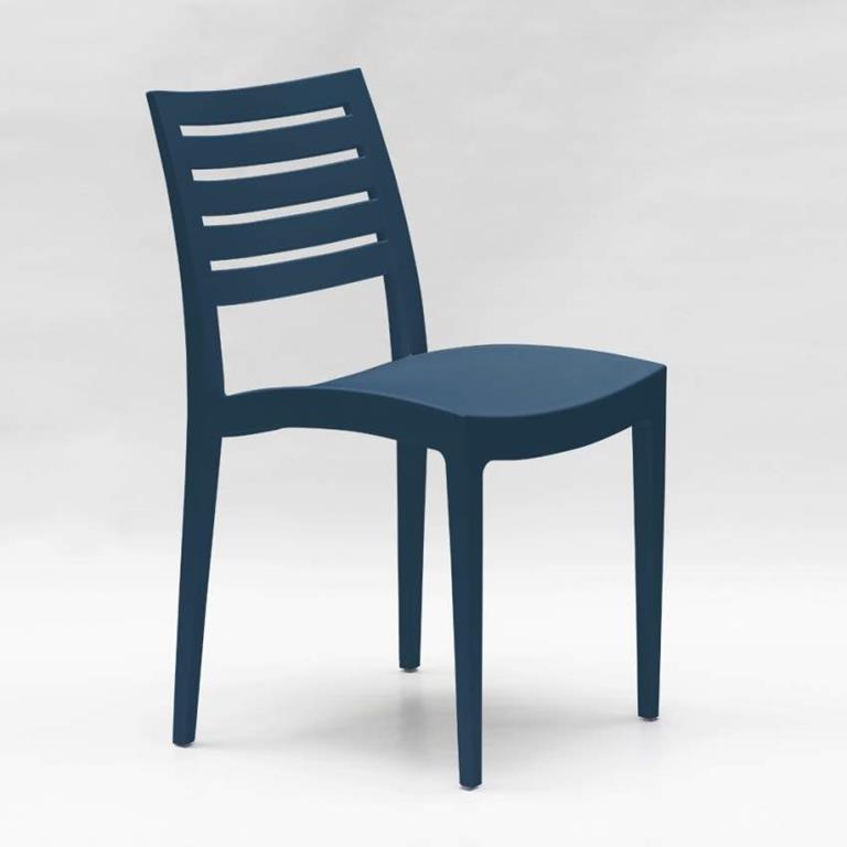 Tavolo Da Giardino Grand Soleil.Sedia Impilabile In Polipropilene Per Giardino E Bar Firenze Blu