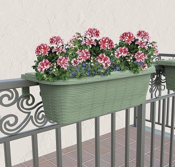 Fioriere In Plastica Per Balconi.Fioriera Balcone Balconiere 60cm In Plastica Regolabile Rondine