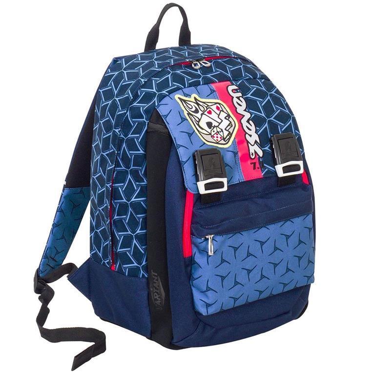 985ac793c4 Zaino Scuola Ragazzi Seven Dice Boy Sdoppiabile Variant Sistem Estendibile  Blu