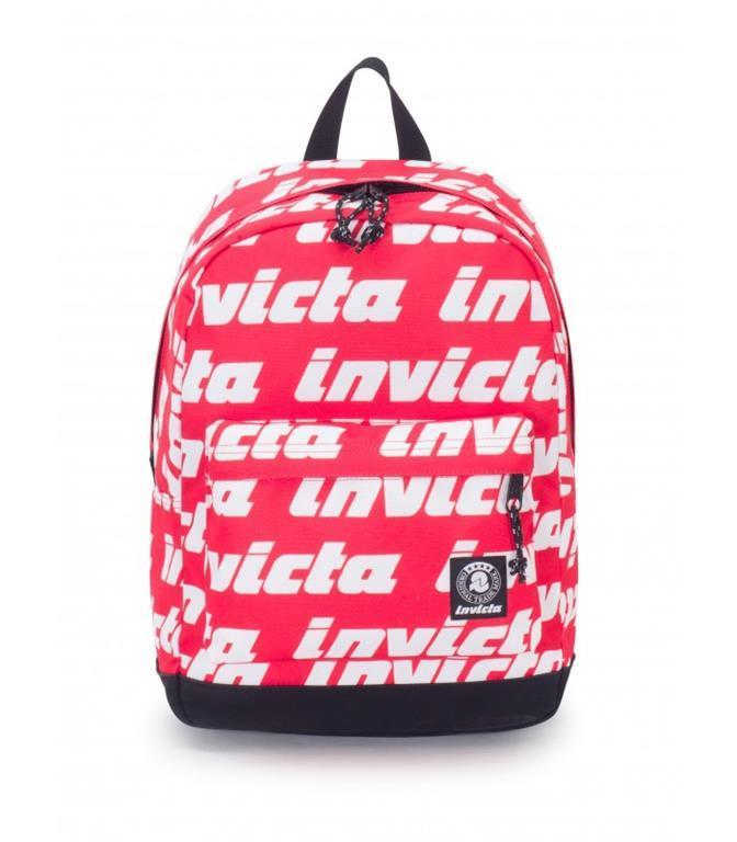 03a63d9c24 Zaino Carlson Pro Invicta Lettering. Fiery Red. Rosso - Invicta ...
