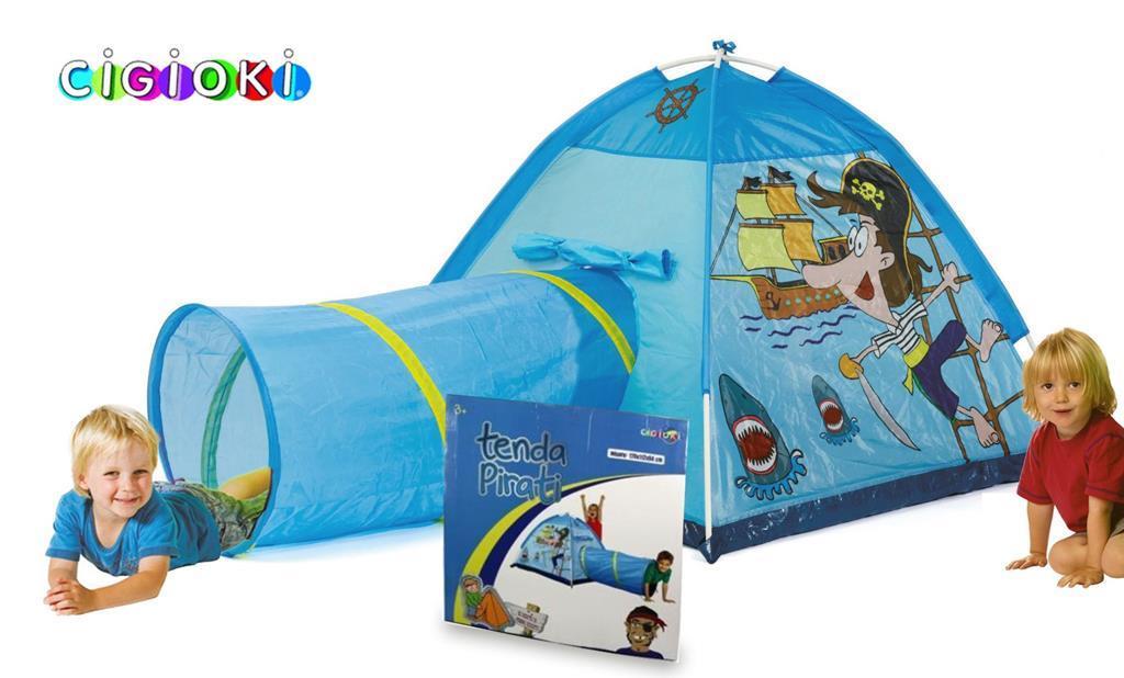 Tende Per Bambini Da Gioco : Tenda da gioco dei pirati 170x112x94 cm con tunnel pop up per