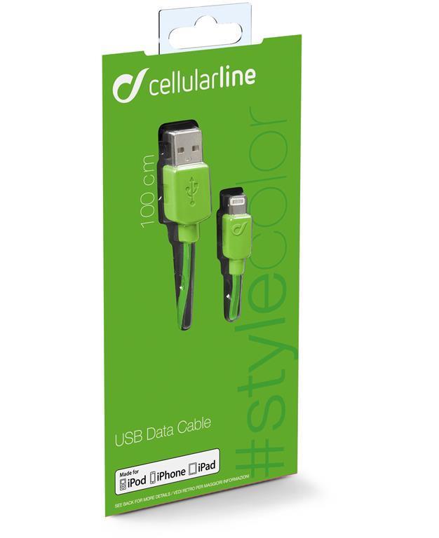 Cellularline Data Cable #Stylecolor Lightning Cavo per la