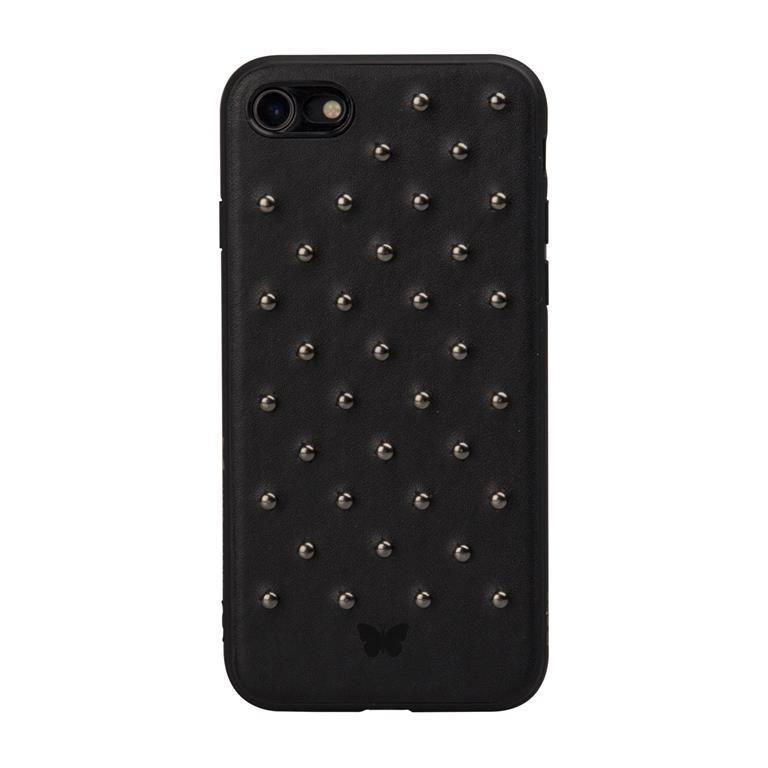 Cover rigida con borchie per iPhone 8/7, colore nero - SBS ...