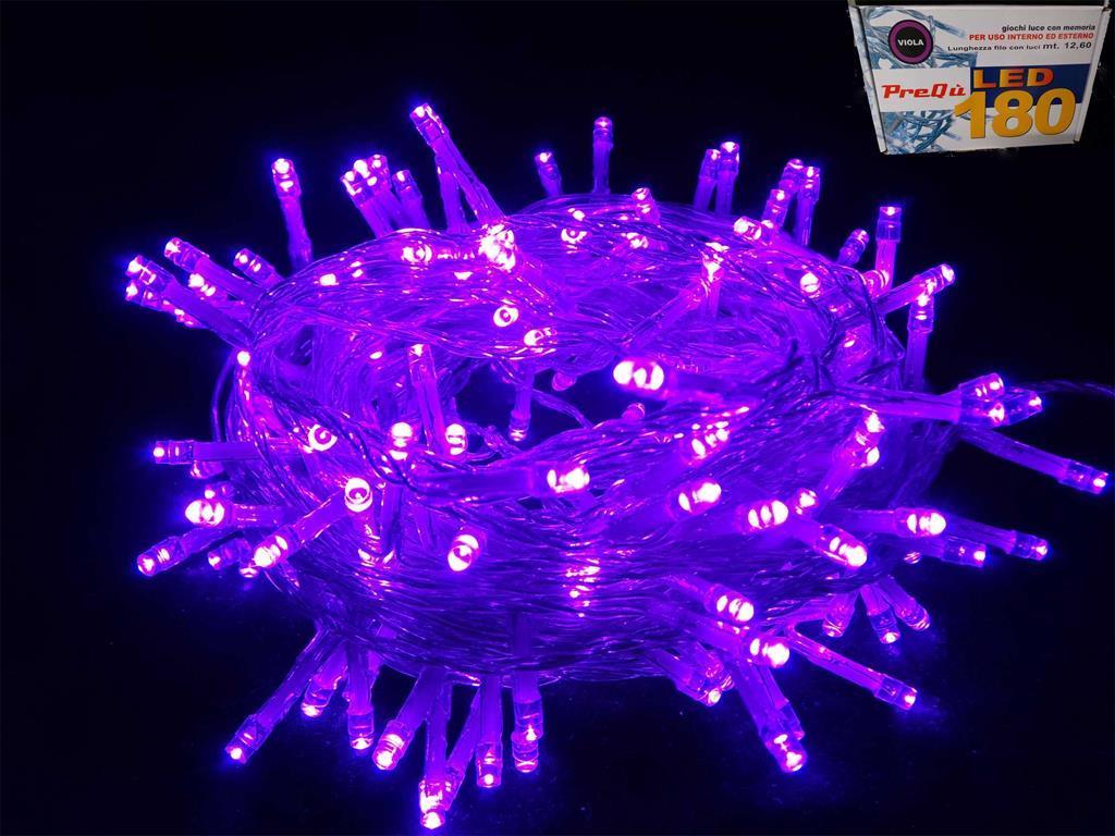 Catena luci di natale led viola giochi di luce esterno