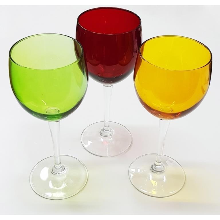 Set 6 Bicchieri Bicchiere Calici Alti Sweet Colorati In Vetro Acqua Vino Bevande Nd Casa E Cucina Ibs