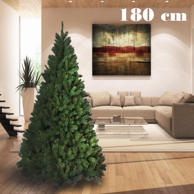 Albero Di Natale Folto.Albero Di Natale 180cm Super Folto 723 Rami Pino Verde Base A Croce Nd Casa E Cucina Ibs