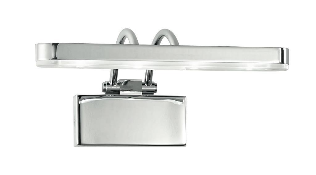 Applique orientabile metallo cromo diffusore acrilico lampada