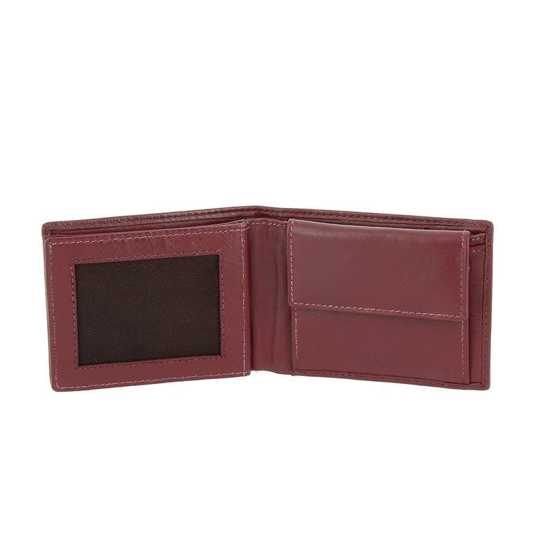 più recente 82714 eb1cb DV Portafoglio Uomo Piccolo con Portamonete Compatto in Pelle Nappa Porta  Carte di credito e Banconote Bordeaux
