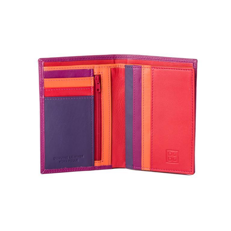 a530349729 Portafoglio da uomo a libro in pelle multicolore con lampo Fucsia ...