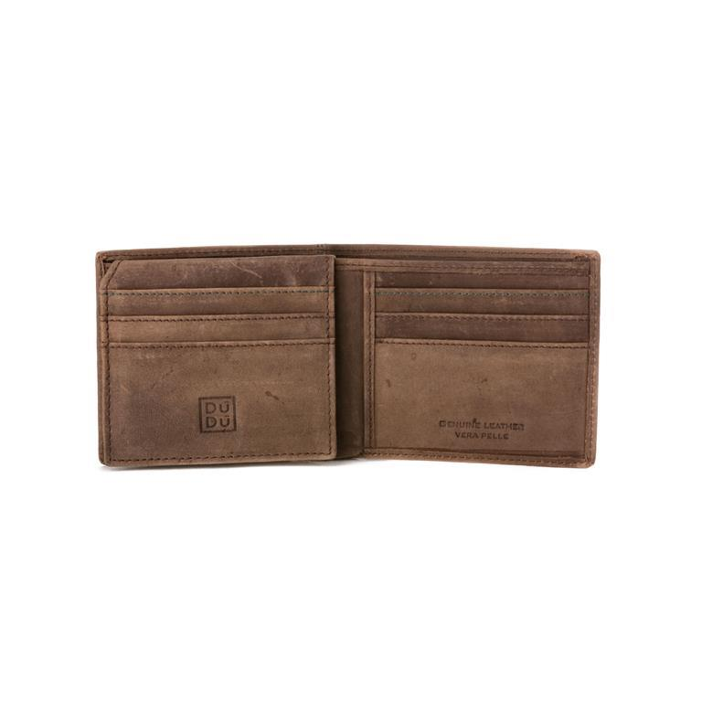 29759f0e41 Portafoglio Uomo Porta Carte in Vera Pelle Vintage con 9 tasche Porta  Tessere e Patta interna