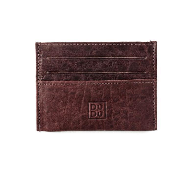 0e74b5f71c Porta carte di credito Uomo Donna in morbida Pelle Ultra slim Sottile  Tascabile con 6 tasche