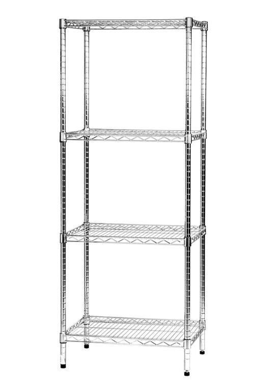 Scaffali In Metallo Cromato.Scaffale In Metallo Cromato 4 Ripiani 45x60x160cm Archimede 4x456016
