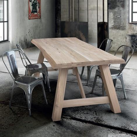Anderson Tavolo Da Pranzo Moderno In Legno Massello 180 X 90 Milani Home Casa E Cucina Ibs