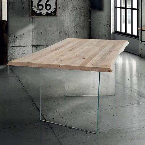 Anson Tavolo Da Pranzo Moderno In Vetro E Legno 160 X 90 Milani Home Casa E Cucina Ibs