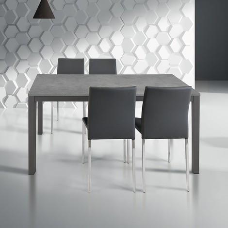Tavoli Da Cucina Di Design.Tavolo Da Pranzo Moderno Di Design Allungabile Cm 80 X 140 200 Rovere Grigio