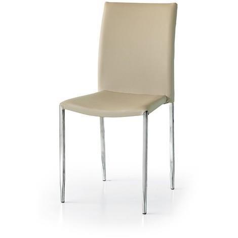 Sedia Studio Design.Milanihome Sedia Moderna Di Design In Metallo Nera Per