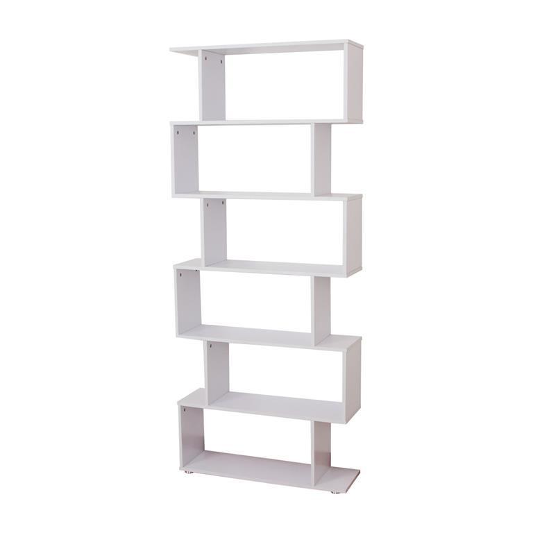 Scaffali E Librerie Design Legno.Homcom Libreria Di Design Mobili Ufficio Scaffale In Legno 80x25x192cm