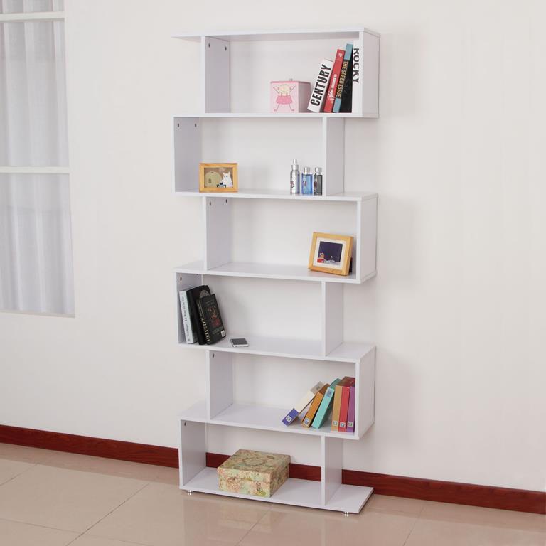 HomCom Libreria di Design Mobili Ufficio Scaffale in Legno ...
