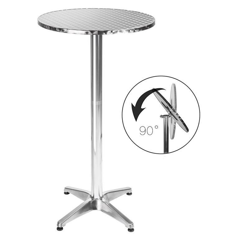 Tavolino Bar Bistrot Alto Pieghevole Alluminio Rotondo ...