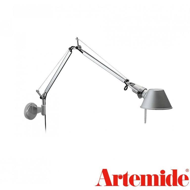 Tolomeo Micro Lampada da Parete E14 40W Alluminio A010900 + A025150