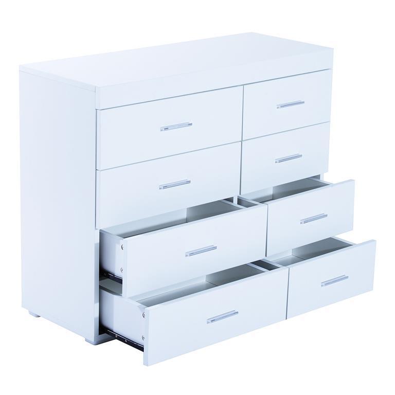 Homcom Cassettiera per Casa e Ufficio in Legno, Bianco, 90x35x73cm ...