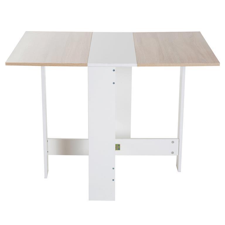 Homcom Tavolo da Pranzo Moderno Salvaspazio Bianco Rovere, 103x76x73 ...