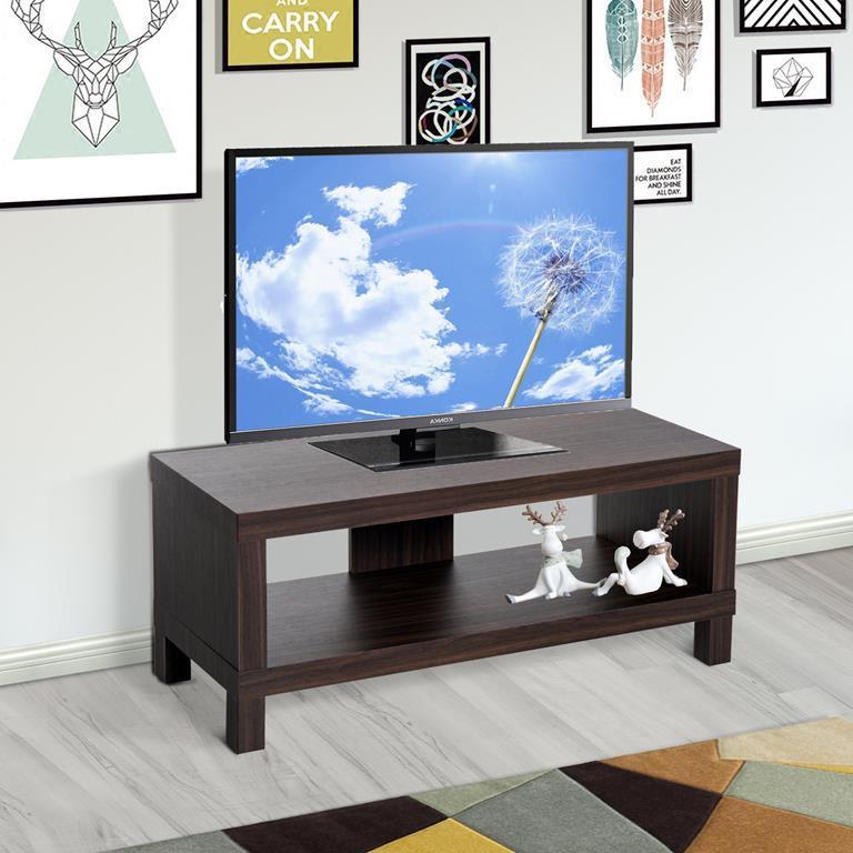 HOMCOM Mobile Porta TV Classico con Vano in Legno Noce 90cm 35cm ...