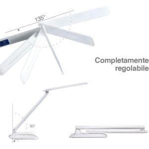 Lampada Scrivania Touch Con Calendario E Orologio Luce Led Regolabile Bianco Nd Casa E Cucina Ibs