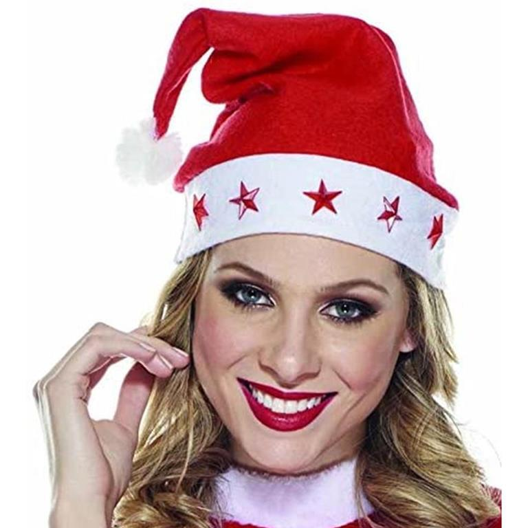 Cappello Babbo Natale con Luci LED Taglia Unica Uomo Donna ...