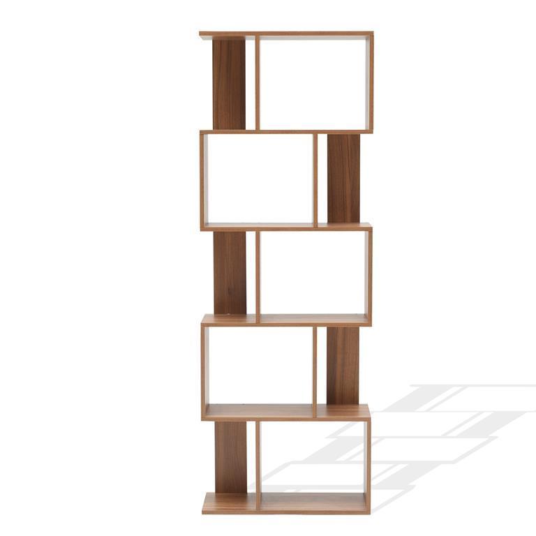 Mensole Per Libreria Legno.Scaffale Libreria 5 Mensole Marrone Moderna Legno Soggiorno