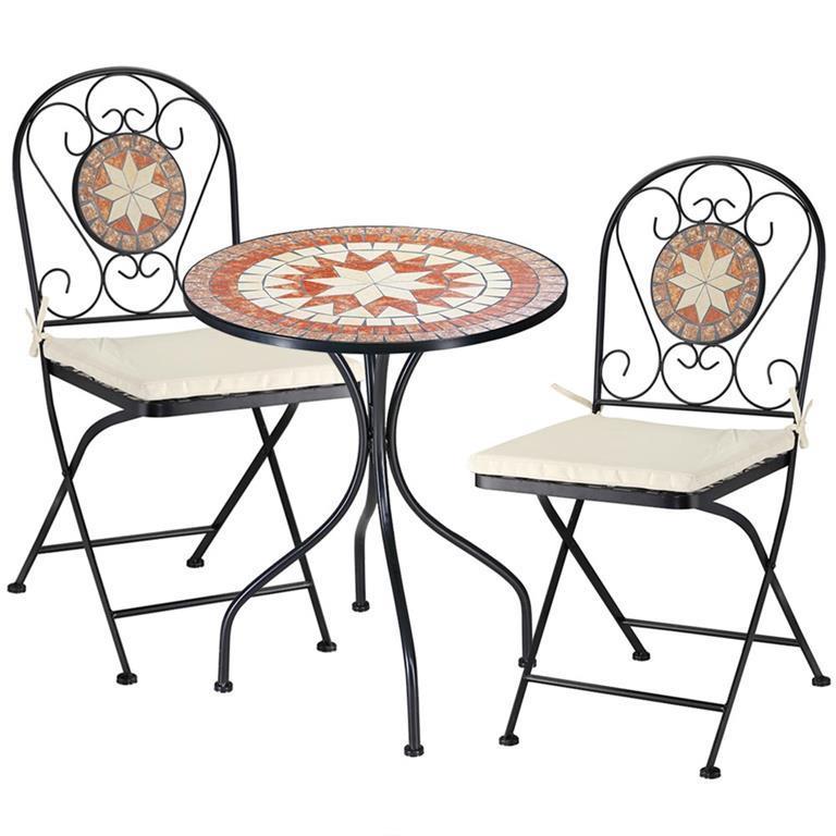 Set Tavolo e Sedie Pieghevoli Mosaico Arredo Esterno ...