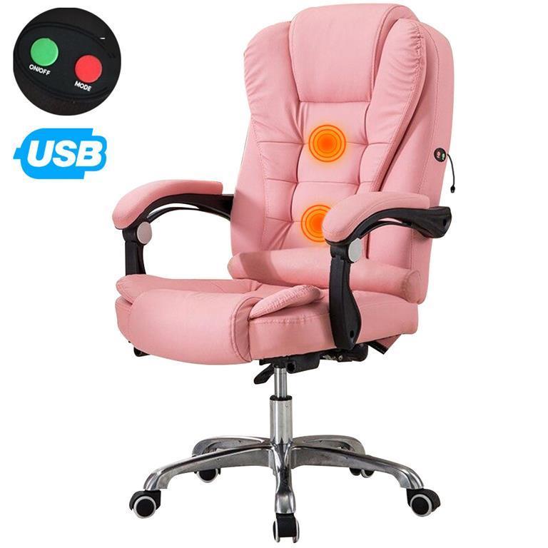 Poltrona Massaggiante USB Sedia Scrivania Ufficio Girevole ...