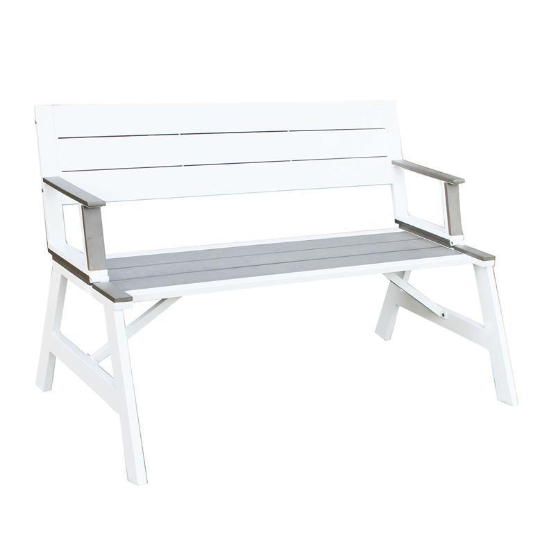 Tavolo-panca in alluminio e polywood